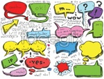 Link toHand-drawn dialogue bubble vector