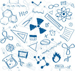 Link toHand-drawn elements of science background vector