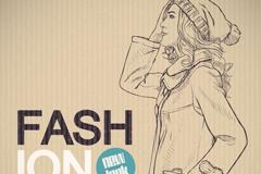 Link toHand-drawn fashion women vector illustration