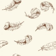 Link toHand drawn feather seamless pattern vector free