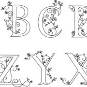Link toHand drawn floral alphabet vector free