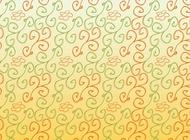 Link toHand drawn flower scrolls pattern vector free