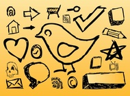 Link toHand drawn icons vector free