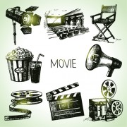 Link toHand drawn movie elements vector icons free