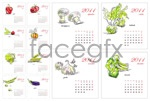 Link toHand-drawn vegetable calendar vector