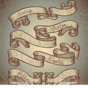 Link toHand drawn vintage ribbon benner vector 04 free