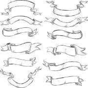 Link toHand drawn vintage ribbon benner vector 07 free