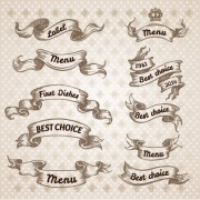 Link toHand drawn vintage ribbon benner vector 09 free