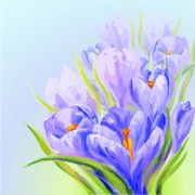 Link toHand drawn watercolor flower background 06 free