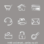 Link toHand-drawn web icons vector