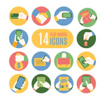 Link toHand icon vector