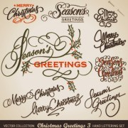 Link toHand lettering merry christmas design vector 05
