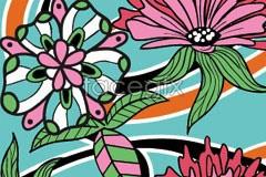 Link tovector background floral abstract Hand-painted