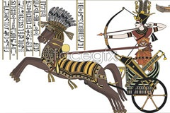 Link tovector warrior egypt ancient Hand-painted