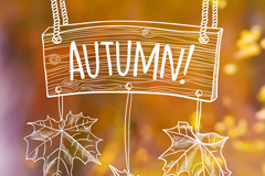 Link toHand-painted autumn background vector