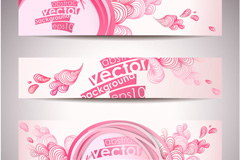 Link toHand-painted banner to the heart-shaped vector