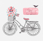 Link toHand-painted bicycle vector