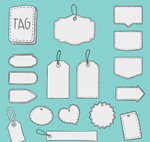 Link toHand-painted blank hang tags vector
