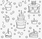 Link toHand-painted cake background vector