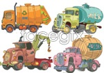 Link toHand-painted cartoon cars vector
