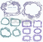 Link toHand-painted cartoon lace vector