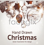 Link toHand-painted christmas elements vector