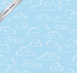 Link toHand-painted clouds seamless background vector