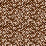 Link toHand-painted coffee beans background vector