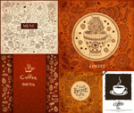 Hand-painted coffee pattern vector