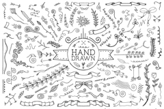 Link toHand-painted decorative design elements vector