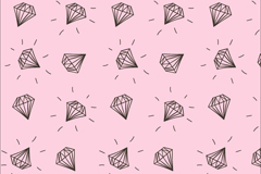 Link toHand painted diamond seamless vector background