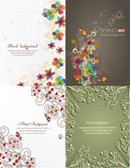 Link toHand-painted floral pattern backgrounds vector