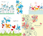 Link toHand-painted flower line drawing vector