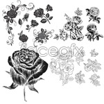 Link toHand-painted flower materials vector