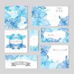 Link toHand-painted flowers and wedding cards vector