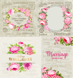 Link toHand-painted flowers decorative elements vector