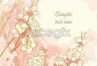 Link toHand-painted flowers line draft background vector