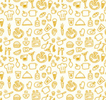 Link toHand-painted food seamless background vector