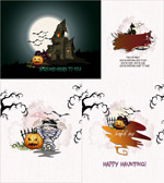 Link toHand-painted halloween ads vector