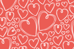 Link toHand-painted hearts seamless vector background