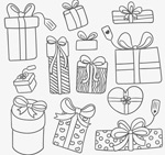 Link toHand-painted holiday gift box vector