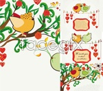 Link toHand-painted illustrations of love birds vector