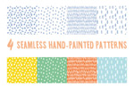 Link toHand-painted lovely seamless background vector