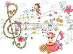 Link toHand-painted lovely wind vector 2
