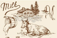 Link toHand painted pastoral element vector