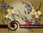 Link toHand-painted pattern background vector