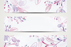 Link toHand-painted patterns designed banner vector