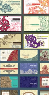Link toHand-painted patterns in plants card vector