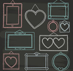 Link toHand painted photo frame vector