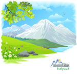 Link toHand painted snow scenery vector